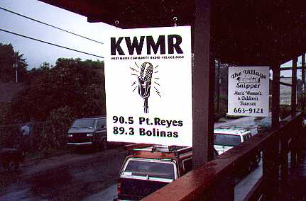 The entrance to the upstairs studio and office of KWMR Radio