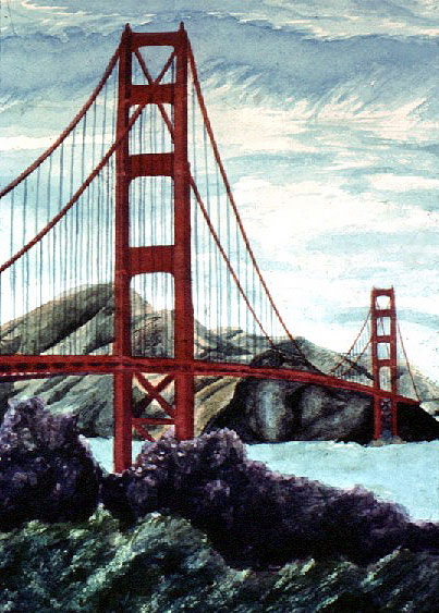 Thomas Kinkade Golden Gate Bridge San Francisco Painting anysize