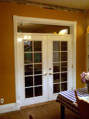 When We Moved In, You Might Say The Dining Room Was A Piece Of Work. The  Floor Was Carpeted And Two Walls Were Paneled, With Most Of The Original  Trim Gone.
