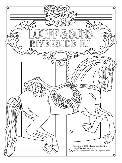 coloring pages of carousel zebra - photo#31