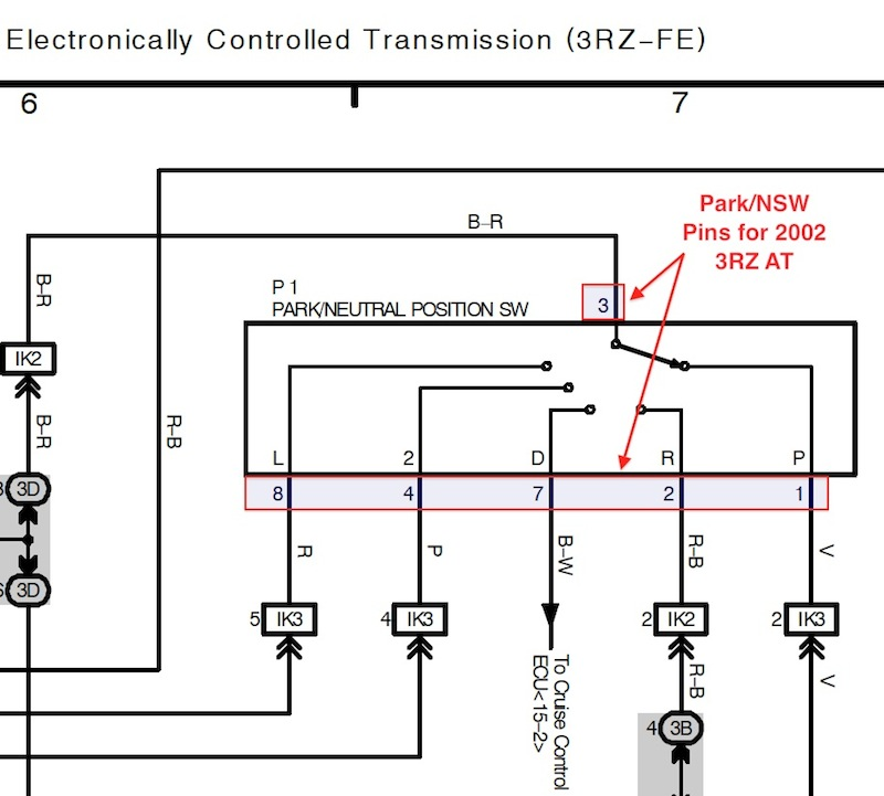 automatic >manual ecu swap wiring info page 3 ttora forum b i had to translate his diagram to match my harness i made a screenshot of the pins for your truck taken from the overall ewd for the 2002 3rz tacoma